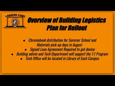 Innovation in District 156 / 1:1 Technology Plans