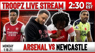 ARSENAL 3-0 NEWCASTLE | WATCHALONG W/ TROOPZ AND ZAH