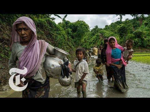 Rohingya People Flee Military Offensive in Myanmar