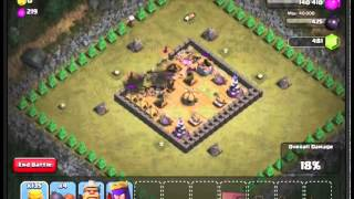 Clash of Clans Level 29 - Red Carpet. Using level 5 Barbarian's!