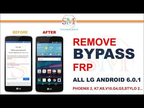 FRP BYPASS ALL LG ANDROID 6 0 K7,K8,V10,G4,G5,STYLO2 - YouTube