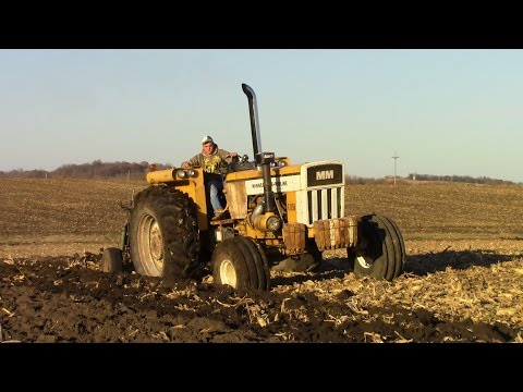Minneapolis-Moline G-1350 Tractor and Oliver 540 Plow