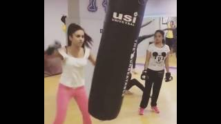 Rina Charaniya Doing Hardcorobic In Gym Very Amazingly