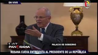 El Presidente Kuczynski responde a panel de periodistas en Palacio de Gobierno (1/3)
