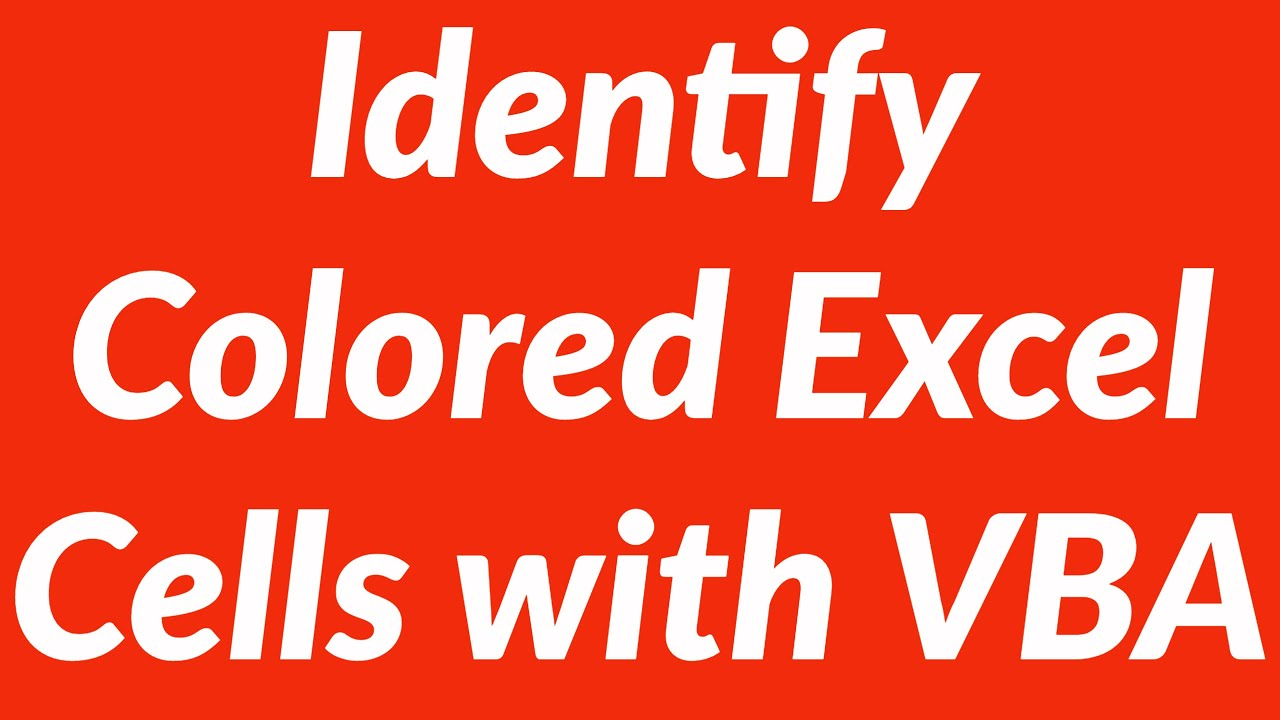 Identify colored cells in excel worksheet and perform actions with identify colored cells in excel worksheet and perform actions with vba ibookread PDF