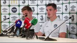 Italy v Republic of Ireland - Pre Match Presser - Kevin Doyle and Ciaran Clark (30/5/14)