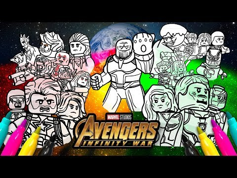 Avengers Infinity War Cover Coloring page | Marvel LEGO Superheroes
