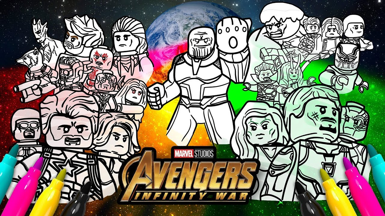 Avengers Infinity War Cover Coloring
