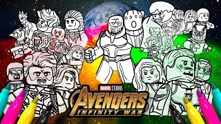 Avengers Infinity War Cover Coloring page  Marvel LEGO Superheroes