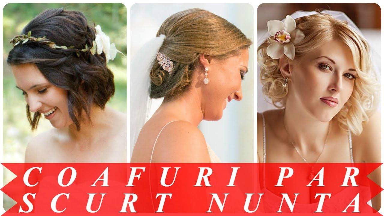 Modele De Coafuri Pentru Nunta Par Scurt Youtube