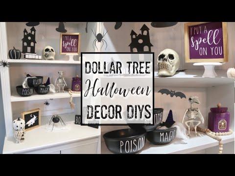 HALLOWEEN DOLLAR TREE DIYS | FARMHOUSE STYLE FALL DECORATE WITH ME | FARMHOUSE FALL DECOR