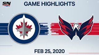 NHL Highlights | Jets vs. Capitals - Feb. 25, 2020