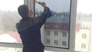 Тонировка окон и витрин в квартирах, офисах и магазинах.(, 2014-11-26T10:49:27.000Z)