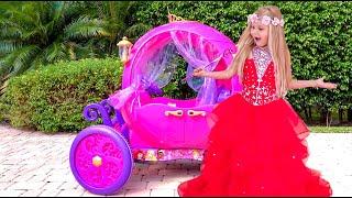 डायना एक गेंद के लिए तैयार है। वह एक असली राजकुमारी बनना चाहती है।