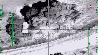 ВКС РФ стерли с лица земли командный пункт ИГИЛ кадры с воздуха