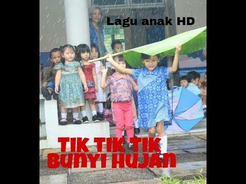 TIK TIK BUNYI HUJAN DIATAS GENTING PLUS LIRIK | LAGU ANAK NASIONAL INDONESIA