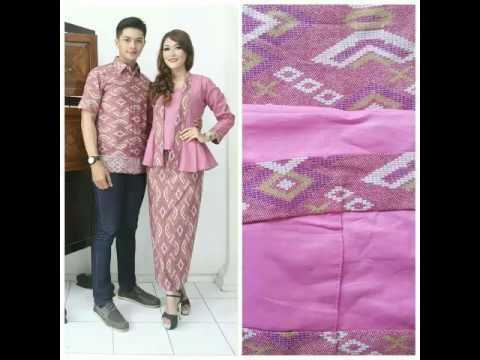 Model Baju Pesta Couple Kombinasi Batik Terbaik Terbaru Saat Ini