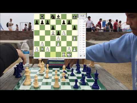 CHESS HUSTLER Tries to Win On Time After Being CRUSHED! - Santa Monica Chess Park Hustling!