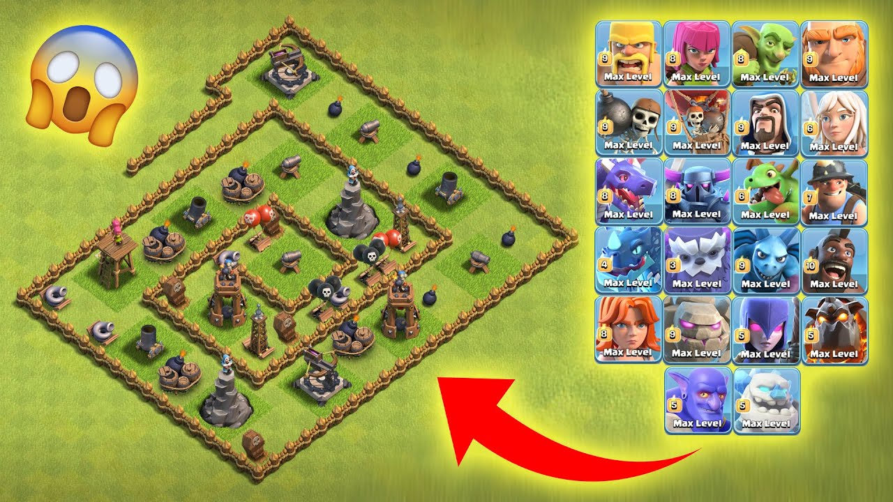 Maze Level-1 Defence Base vs All Max Troops | Clash of Clans | *Unbelievable Attack* | NoLimits