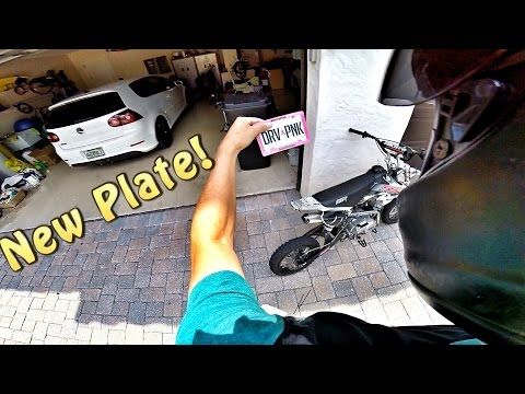Pit Bike Adventures | Got Me A New License Plate!!