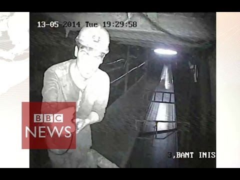EXCLUSIVE: CCTV footage from Soma mining disaster - BBC News