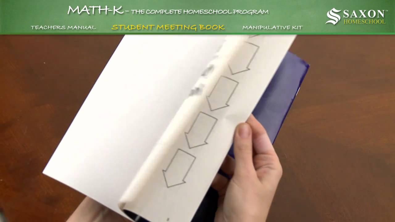 Saxon Math K Meeting Book - YouTube