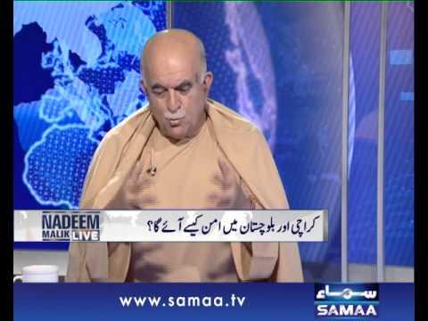 Nadeem Malik Live,Exclusive Interview of Mehmood Khan Achakzai, May 15 2014