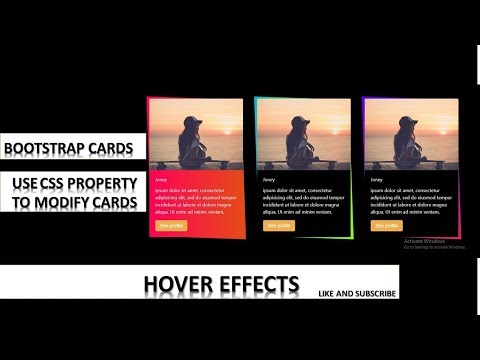 Bootstrap cards MODIFY with CSS || Responsive Bootstrap cards || hindi thumbnail