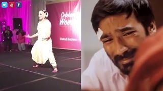 If Dhanush had to react to his wife's dance performance at the UN
