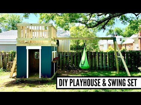 DIY Playhouse And Swing Set Build