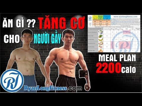 Ăn Gì Tăng Cơ Cho Người Gầy , Meal Plan 2200 Calo cho người mới tập GYM từ HLV Ryan Long Fitness