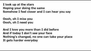 Stay (Miley Cyrus Male version) Lyrics
