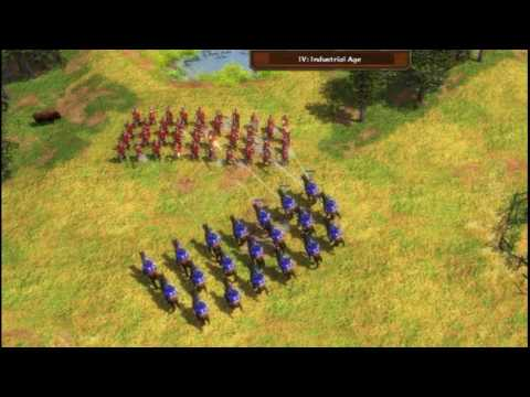 aoe3 The true Power of the French Cuirassier. (Alpha Gamers Cl4n_)