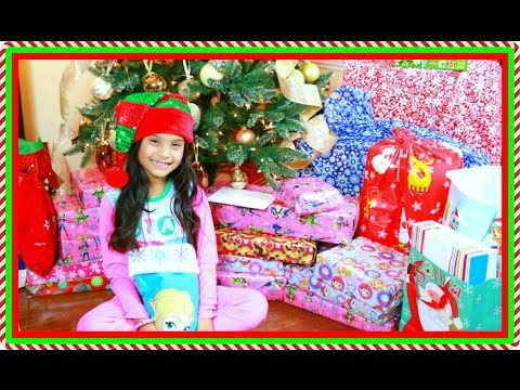 Christmas Morning 2016  Tiana Opening Presents Surprise Toys Kids What I Got For Christmas Haul