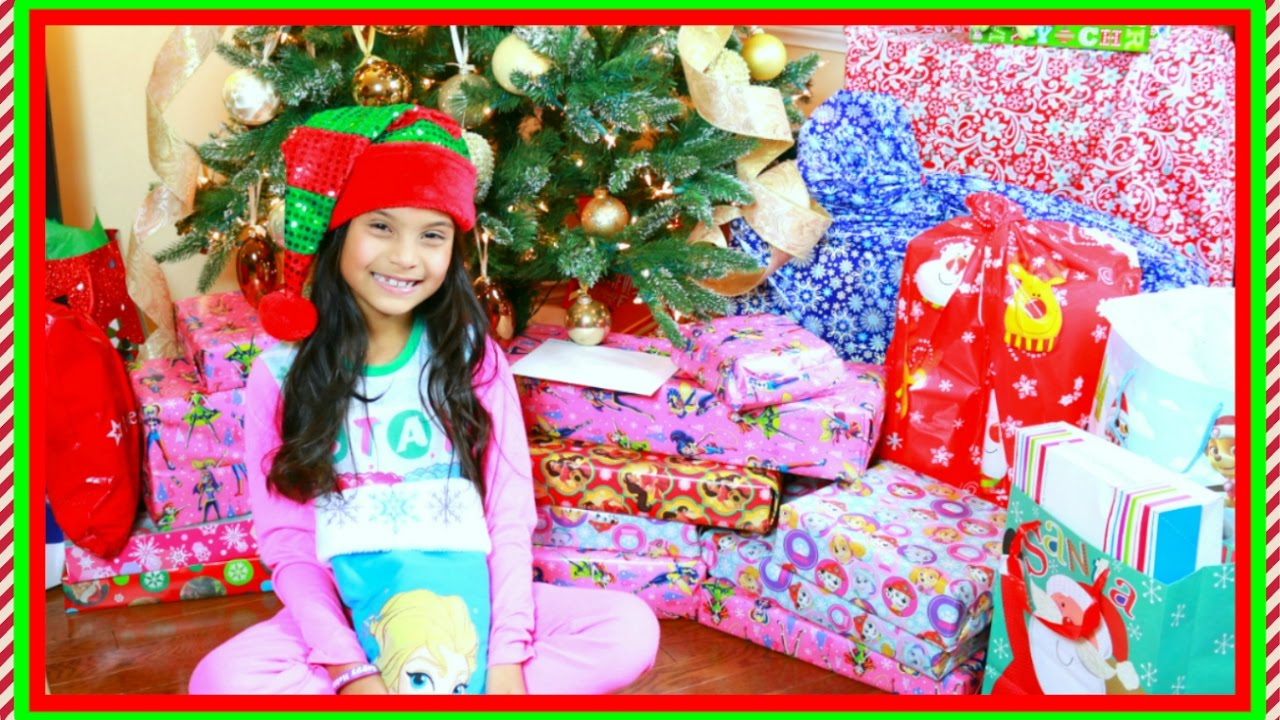 Christmas Morning 2016 Tiana Opening Presents Surprise