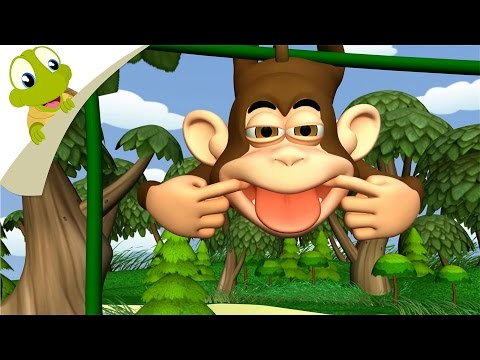 Five Little Monkeys 3D nursery rhyme | Popular Nursery Rhymes