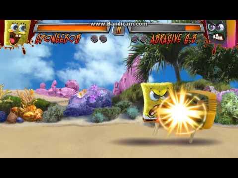 Super Brawl 3: Just Got Real - SpongeBob vs. Abrasive SpongeBob (Gameplay)