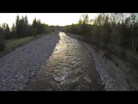 Paramotoring up the carbon river near Orting WA
