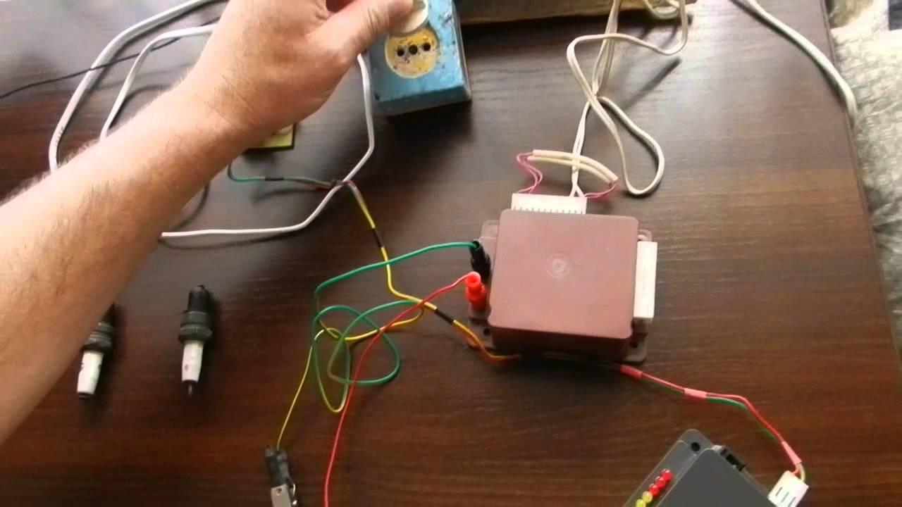 схема конденсаторной системы зажигания 2108