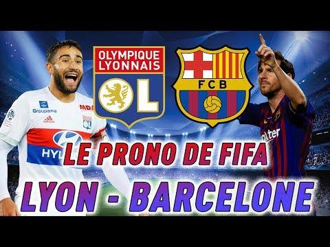 LE PRONO DE FIFA : OLYMPIQUE LYONNAIS - FC BARCELONE ! (1/8 CHAMPIONS LEAGUE)