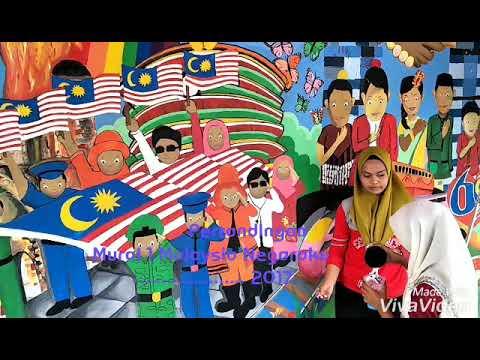pertandingan mural 1malaysia negaraku smkap 19 disember