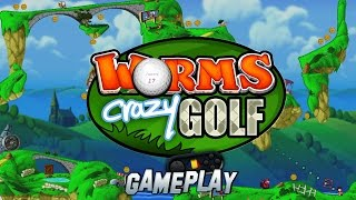 Worms Crazy Golf PC Gameplay