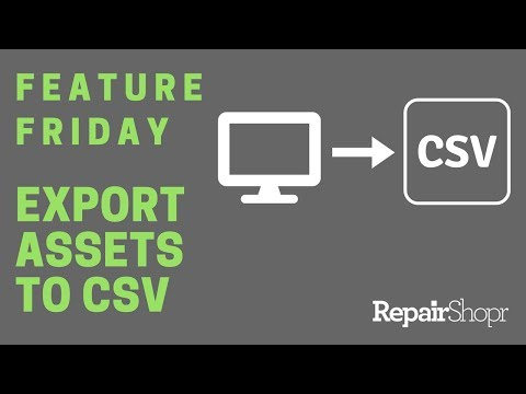 Feature Friday - Export Assets to CSV