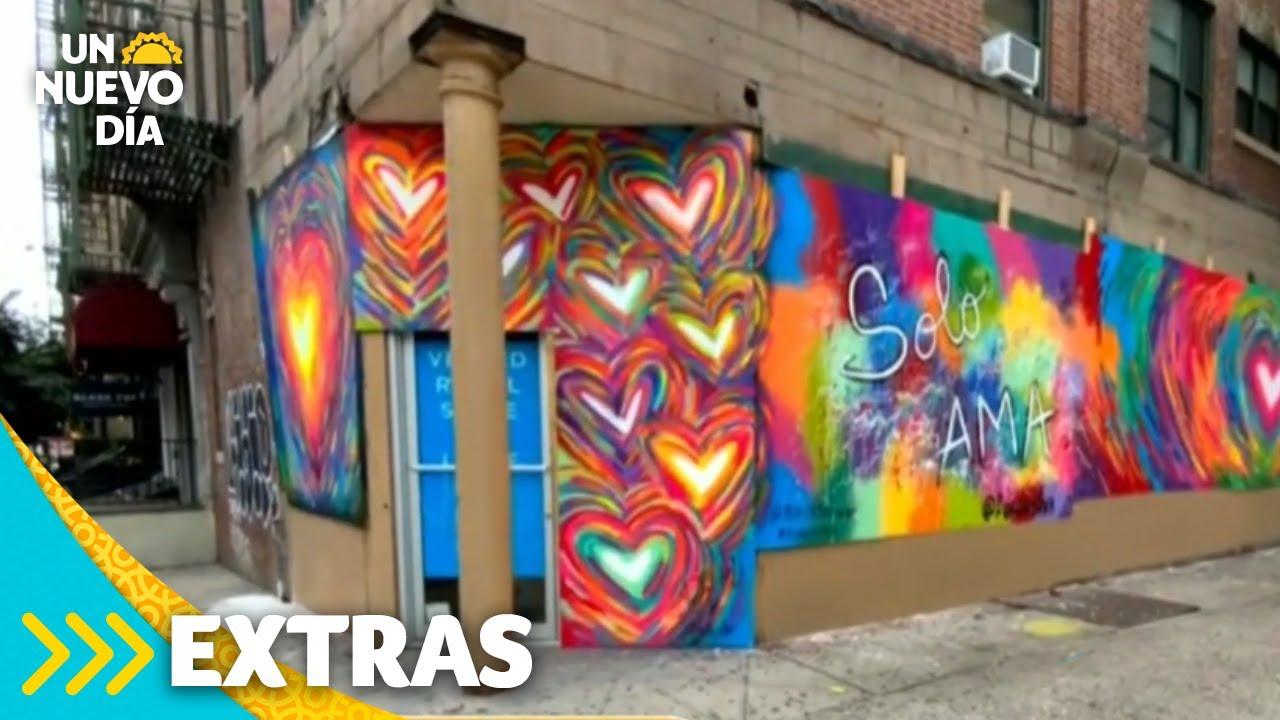 Roban mural del artista venezolano Fer da Silva en Nueva York | Un Nuevo Día | Telemundo