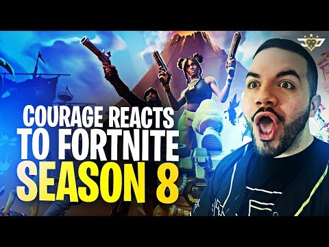 COURAGE REACTS TO FORTNITE SEASON 8! THERE'S SO MANY CHANGES! (Fortnite: Battle Royale)