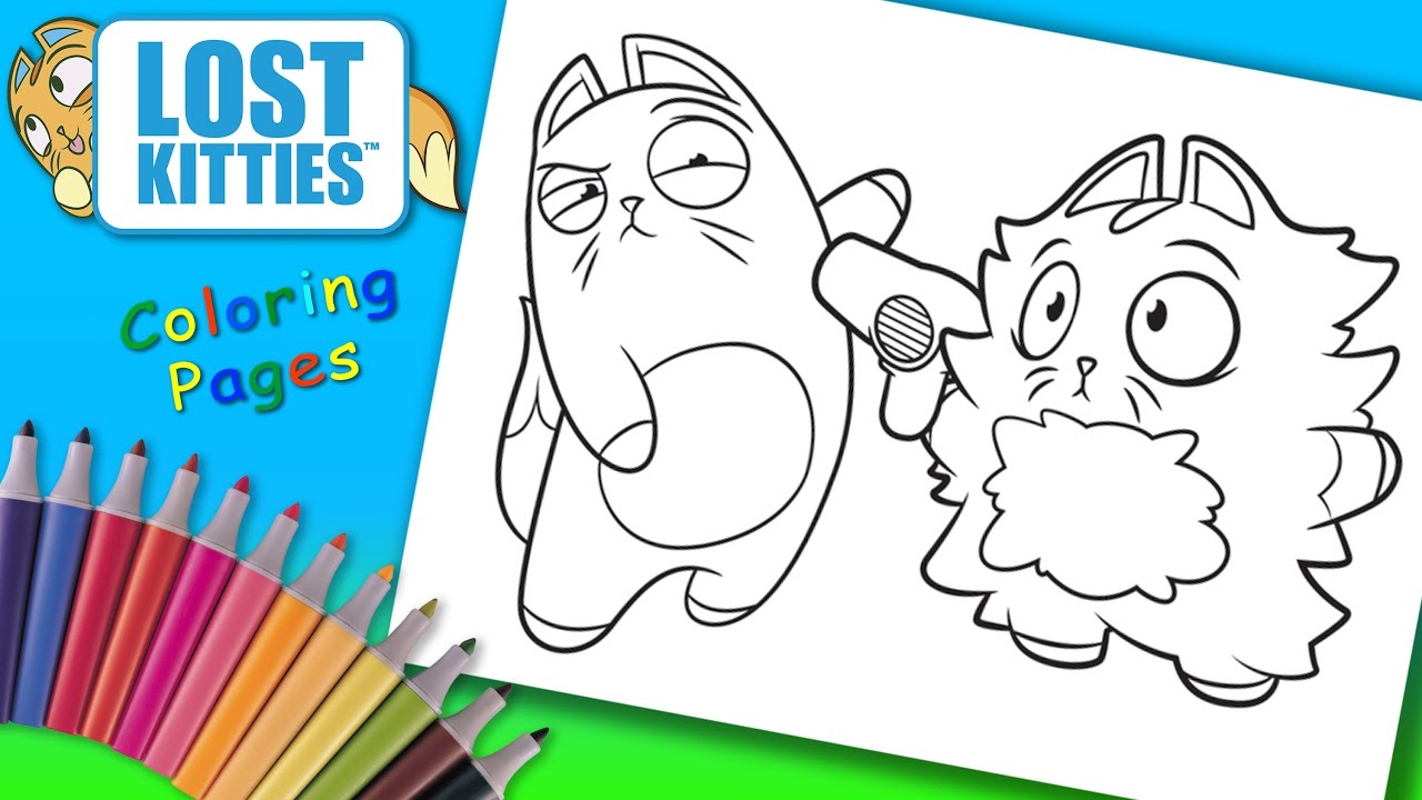 Lost Kitties Colouring Lost Kitties Coloring Book Pages For Children How To Coloring Lost Kitties Youtube