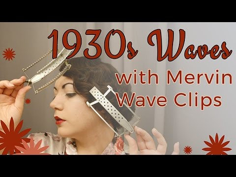 Waved 1920s/1930s Hair Style with Mervin Wave Clips