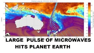 9/03/2015 -- Large Microwave Energy Pulse hits planet Earth -- Destroys storm near NZ
