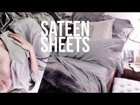 Silver Sateen Sheets ~ California Cotton Club