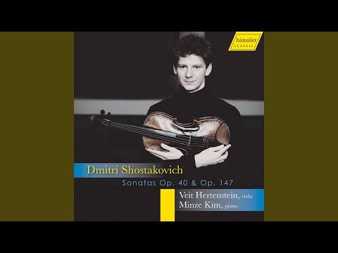 Cello Sonata in D Minor, Op. 40 (Arr. V. Hertenstein for Viola & Piano) : II. Allegro